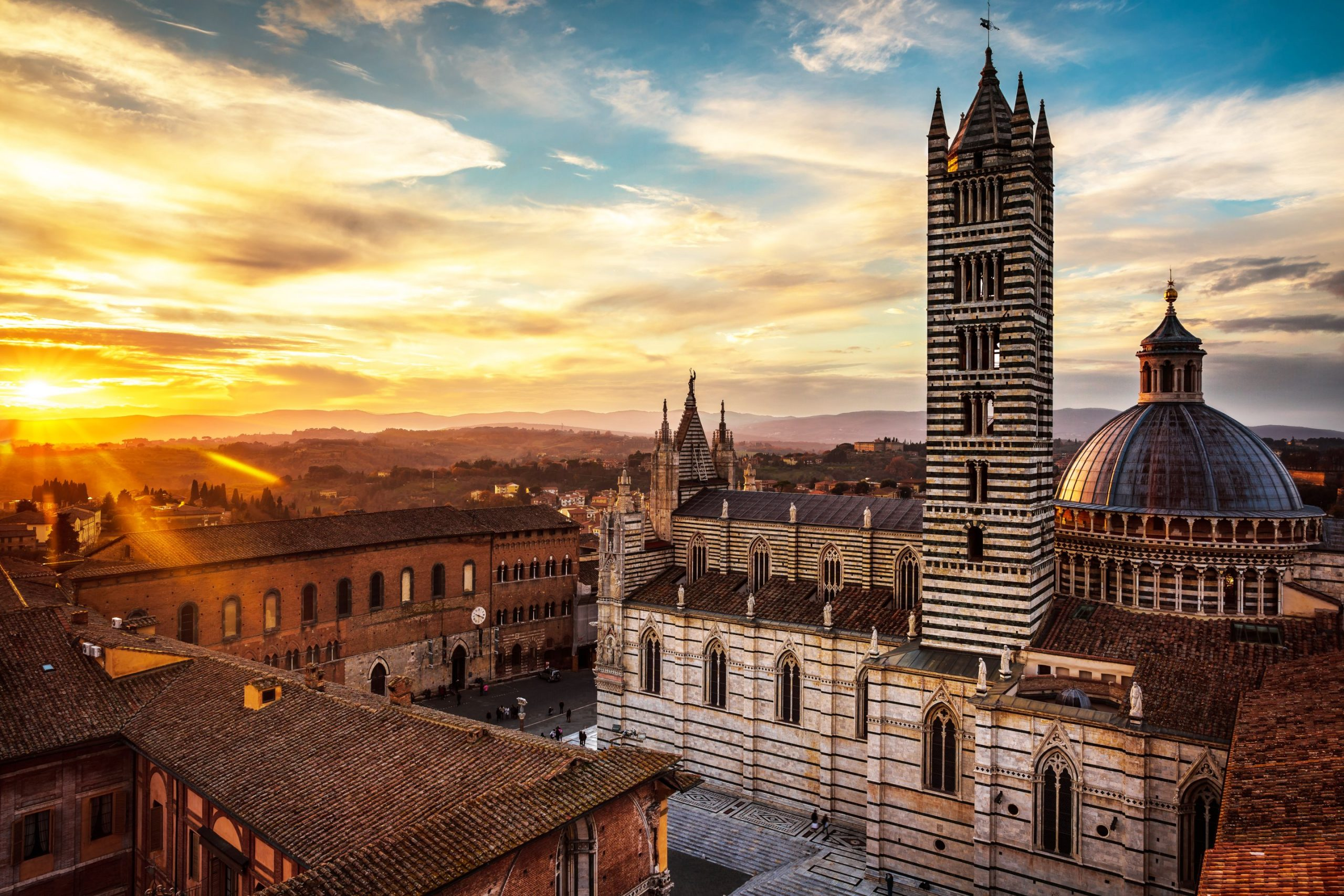 Sunset over Siena