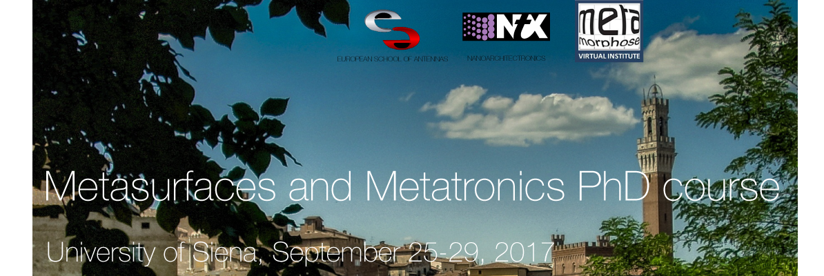 Metasurfaces and Metatronics, PhD course