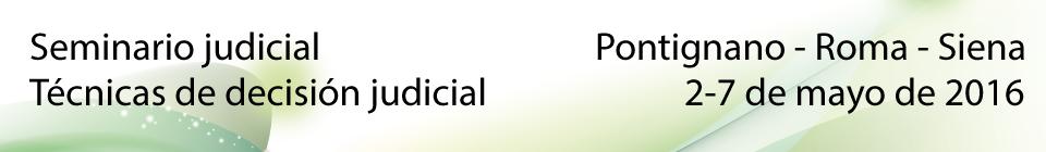 Seminario judicial - Técnicas de decisión judicial